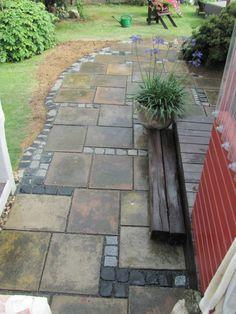 aufgepepptes altes Pflaster greased old plaster, one garden paths. Garden Paving, Garden Arbor, Garden Beds, Garden Paths, Pavers Patio, Patio Stone, Patio Plants, Mosaic Garden, Concrete Patio
