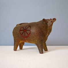 This large and wonderful ceramic bull is the other Alferez piece.
