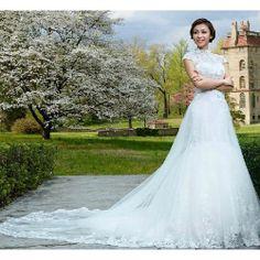 White Sequin Cheongsam Mermaid Modern Vintage Bridal Wedding Dress SKU-117161