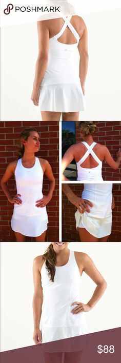 Lululemon Athletica Hot Hitter Dress Lululemon Hot Hitter dress in white.  Size 6.  Pre-owned, but excellent condition! lululemon athletica Dresses