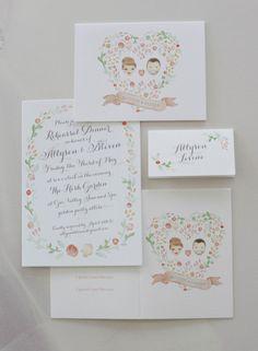 Personalized wedding invitations: http://www.stylemepretty.com/2014/04/29/modern-garden-wedding-in-ojai/ | Photography: Elizabeth Messina - http://elizabethmessina.com/