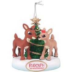 Rudolph the Red-Nosed Reindeer Ornament ❤ liked on Polyvore featuring home, home decor, holiday decorations, christmas ornaments, christmas holiday decor, xmas ornaments, rudolph the red nosed reindeer christmas ornaments and christmas home decor