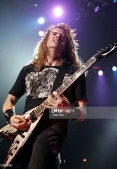 Musician Dave Mustaine of Megadeth performs at Brixton Academy February 24, 2008 in London England.