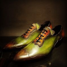 FK2 Design Inc. Latest patina on a '55 from the Paulus Bolten art-shoe collection in a 6 color patina version...
