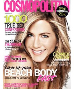 Week 4 Magazines Cosmo magazine Screaming texts, simple photo but it says nothing, a celebrity with a smile, very clean and polished. The white background with the pink and green-ish text is very disturbing