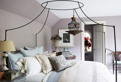 The Hidden Truth About Paint Colors That No One Ever Told You - laurel homeOne of my favorite colors which is especially nice in a bedroom is Benjamin Moore Abalone 2108-60. It is a warm greige with slight lavender undertones but enough brown to keep it from being too sweet.