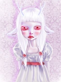 Albino by ~mai-coh on deviantART