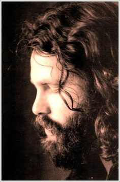 A black and white portrait of Jim Morrison of The Doors. He had grown a large beard trying to be incognito as he disliked his fame. Got the beard. Working on the hair. Jim Morrison Beard, Jimmy Morrison, Morrison Hotel, Beatles, Melbourne, The Doors Jim Morrison, Riders On The Storm, Estilo Rock, American Poets