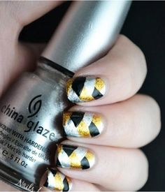 Funky Metallic Nail Design Idea - Nail Designers