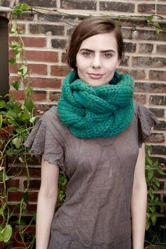 This thing is amazing - it makes everyone look great! Its cozy, stylish and super fun to wear. A fun cowl made of 100% ultra-soft wool, done in a