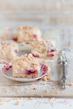 Pudding & Raspberry Bars with Coconut Cramble   Flickr - Photo Sharing!
