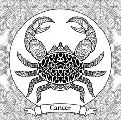 Adult Coloring Pages: Cancer --> If you're in the market for the top-rated adult coloring books and supplies including colored pencils, watercolors, gel pens and drawing markers, visit our website at http://ColoringToolkit.com. Color... Relax... Chill.