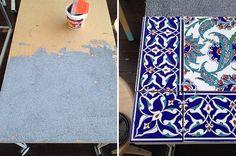11 fantastiche immagini su tavoli con piastrelle recycled