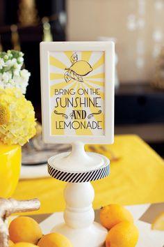 MADHOUSE Lemonwood Inspired Tablescape {+ Champagne Lemonade Recipe & Free Printables} from HWTM #BringOntheSunshine :)