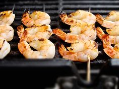 Sweet Chilli Prawn Skewers cooked on the BBQ. Bbq Prawns, Chilli Prawns, Garlic Prawns, Fish Recipes, Seafood Recipes, Great Recipes, Seafood Bbq, Prawn Skewers, Best Junk Food