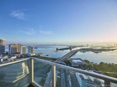 Just another gorgeous view of Biscayne Blvd in Miami Florida. Patio Balcony Florida