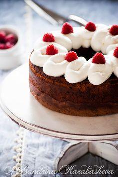 Chocolate and lemon raspberry cake