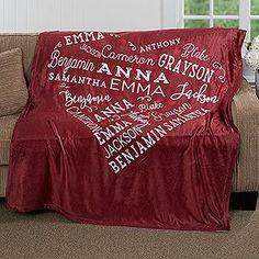Personalized Fleece Blanket - Close To Her Heart - Ladies Gifts