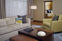 Grand Hyatt Denver - Hotel Amenities include 60,000 square feet of flexible meeting space, newly renovated Fitness Center with pool and whirlpool, 1876 restaurant, 24-hour room service, and valet parking.Guest room amenities include flat screen HD TV's, Hyatt signature Grand Bed, high-speed internet access, cable movie channels, in-room pay movies, voice mail, individual climate control, and Portico bath amenities.