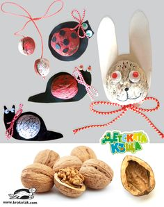 Walnut Crafts for Kids – martenitsas