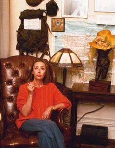 Oriana nella sua brownstone di Manhattan - Foto - Oriana Fallaci
