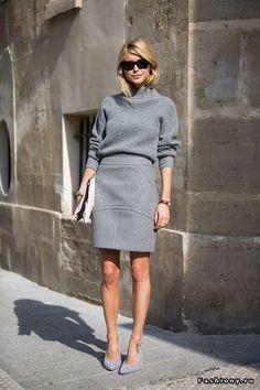 Уличные модницы в женственных юбках / очень женственные юбки