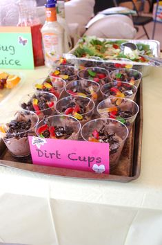 Of course, no Backyard Bible Camp VBS would be complete without some dirt cups! :)