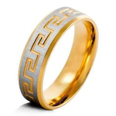 Justeel Jewelry Stainless Steel Wedding Band Men Gold Silver Greek Ring Justeel Jewelry. $6.99. 100% Nickel free. Excellent Luster and Unimpeachable Rust and Corruption Resistance. Size HxWxL: x0.3xinch; (x6.8xmm). Shipping takes 2-3 weeks from China (USPS Tracking)