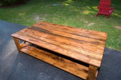 Oak Barn Wood Coffee Table - wood salvaged from horse farm Wood Creations, Reclaimed Barn Wood, Horse Farms, Craftsman, Modern Furniture, Cool Designs, Horses, Traditional, Coffee