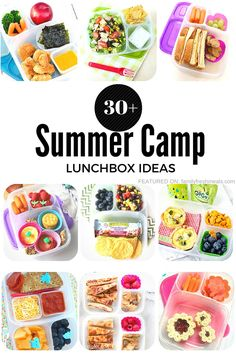 Are your kids heading off to camp, but have no idea what to pack them for lunch? Here are over 30 Summer Camp Lunchbox Ideas your kids will love!