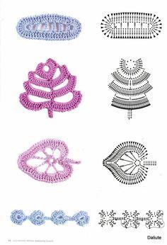 Crochet Leaves ⋆ Page 3 of 4 ⋆ Crochet Kingdom free crochet patterns) Crochet Leaf Patterns, Crochet Leaves, Crochet Motifs, Freeform Crochet, Crochet Diagram, Crochet Chart, Thread Crochet, Lace Knitting, Crochet Flowers