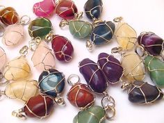 Assorted Colorful Agate Pendantshttp://www.wholesaleperuvianjewelry.com