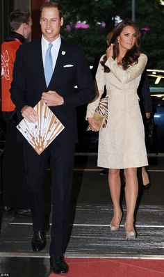 William and Catherine arriving at the Paralympic Stadium 29 Aug 2012