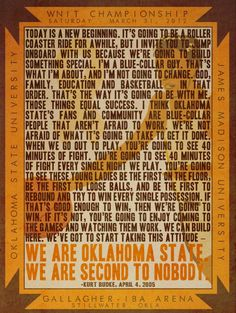 We are Oklahoma State