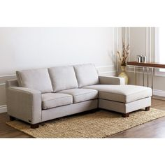 Abbyson u0027Beverlyu0027 Grey Fabric Sectional Sofa  sc 1 st  Pinterest : wildon home sectional - Sectionals, Sofas & Couches