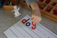 Montessori movable alphabet resources