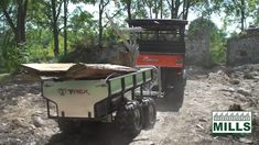 Woodland Mills T-Rex ATV trailer- haul dirt, rocks, firewood, logs and more! Box Trailer, Off Road Trailer, Atv Utility Trailer, Hauling Trailers, Firewood Logs, Yard Waste, T Rex, Quad, Tractors