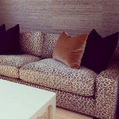 Leopard Sofa // Kelie Gross // Media Room Detail // Pebble Beach, CA