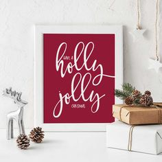 Have a holly jolly Christmas - Wall Decor