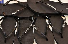 WEDDING Personalized Flip-Flops (Extra Wording, No Tulle)