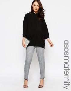 ASOS Maternity Natural Fabric Tapered Trouser with Pocket Detail