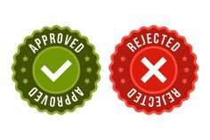 confirm reject vector - Google Search Creative Flyer Design, Creative Flyers, Voting System, Stickers, Christmas Ornaments, Holiday Decor, Label, Design Ideas, Google Search