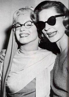 Lauren Bacall y Marilyn Monroe en Cómo casarse con un millonario.
