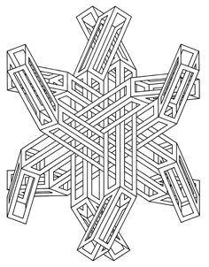 Free coloring page coloring-op-art-jean-larcher-14. Op Art incredible Drawing by Jean Larcher