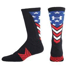 Size Medium - Under Armour Stars & Stripes Crew Socks - Mens