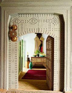 Moroccan door and Moroccan design in Architectural Digest. My Marrakesh blog