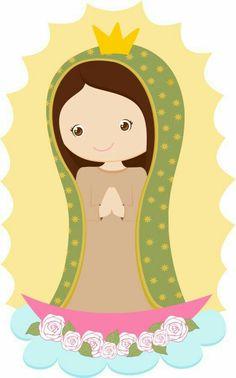 Caricatura de virgen de Guadalupe                              …