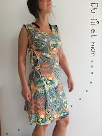 Wires and my . Coin Couture, Couture Sewing, Casual Dresses, Summer Dresses, Sewing Patterns Free, Top Pattern, Spandex, Sewing Clothes, Wrap Dress