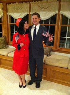 Creative couples costume.  Mr. & mrs. Kennedy #thekennedys #halloween…