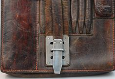 Wh kartentasche meldetasche kradmelder wehrmacht leather map case german wwii officers field map case w cello insert ebay gumiabroncs Images